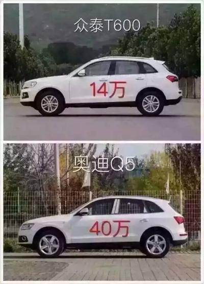 款式差不多的车比较